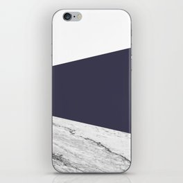 Marble Eclipse blue Geometry iPhone Skin