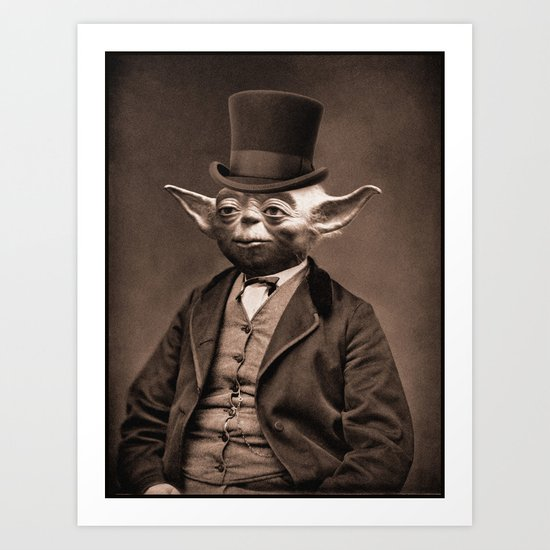 Portrait of Sir Yoda Art Print