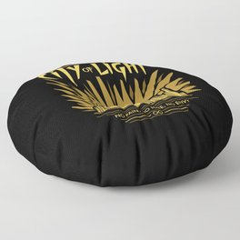 Welcome to the City of Light Floor Pillow