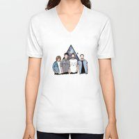 bastille V-neck T-shirts featuring bastille by Phastille