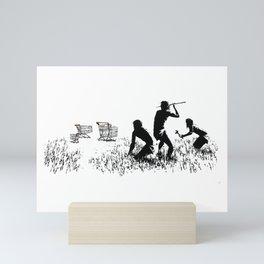 Banksy Trolleys Men Hunting Supermarket Carts Artwork Reproduction for Prints Posters Tshirts Mini Art Print