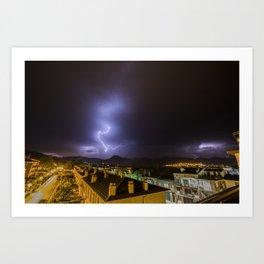 City lightning Art Print