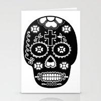 dia de los muertos Stationery Cards featuring DIA DE LOS MUERTOS by RIGOLEONART