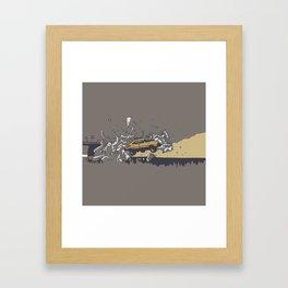 Mad Max Caravan Smash Framed Art Print