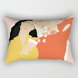 Best Friends and Wine Rectangular Pillow