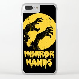 Horror Hands Clear iPhone Case