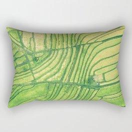 Farm Aerial View Rectangular Pillow