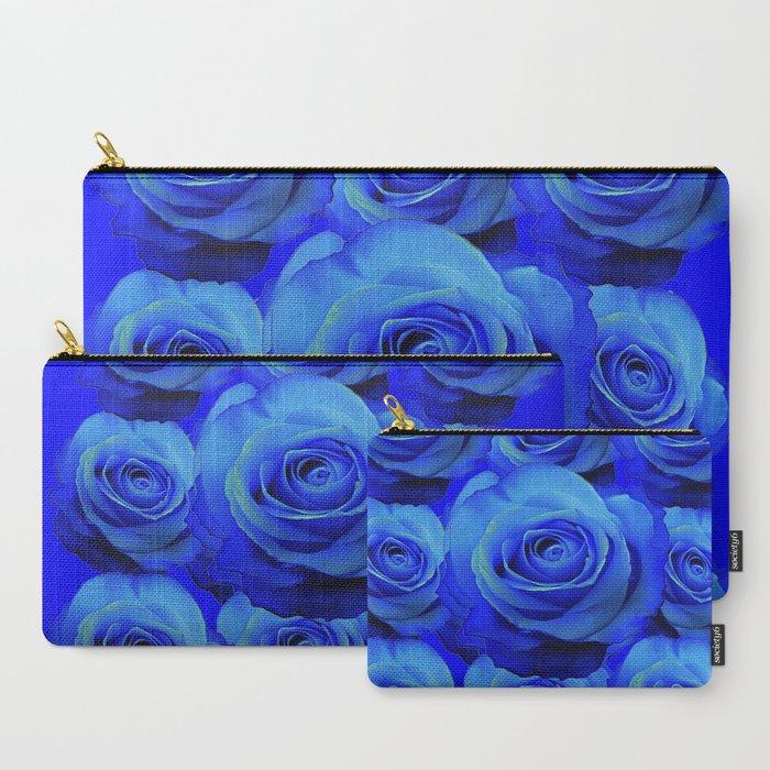 AWESOME_BLUE_ROSE_GARDEN__PATTERN_ART_DESIGN_CarryAll_Pouch_by_SharlesArt___Set_of_3