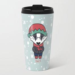 Winter Badger Travel Mug
