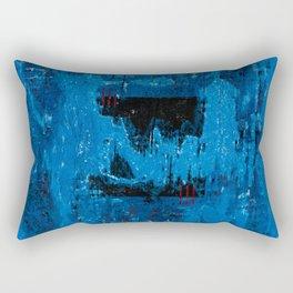Blue Abyss (Blue Abstract) Rectangular Pillow