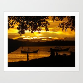 Sunset at Superagui, Parana  -Brazil Art Print