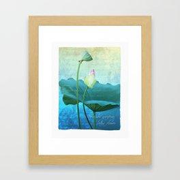New Lotus Framed Art Print