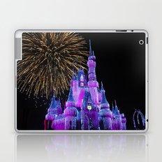 Disney Magic Kingdom Fireworks at Christmas - Cinderella Castle Laptop & iPad Skin