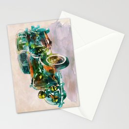 Vintage Car in watercolor Stationery Cards