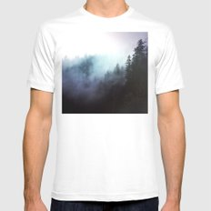 The echos White Mens Fitted Tee MEDIUM
