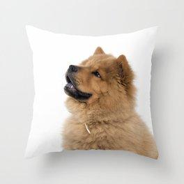 Chow Chow other profile Throw Pillow
