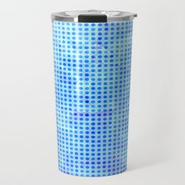 Pale Blue Dots Pattern Travel Mug