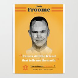 Heroes of The Tour de France - Chris Froome Poster