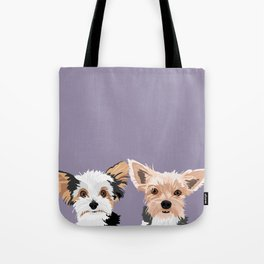 Two Yorkies Tote Bag