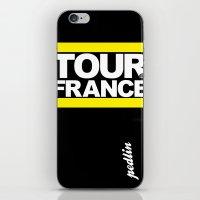 tour de france iPhone & iPod Skins featuring Tour de France by Pedlin