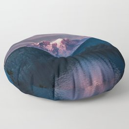 Sunset Mt. Rainier, Mineral, Washington Floor Pillow