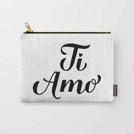 Ti Amo calligraphy hand lettering. I Love You in Italian Carry-All Pouch