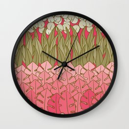 Mummies Flower Bed Wall Clock