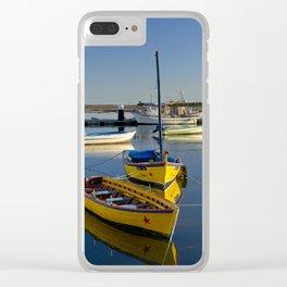 Santa Luzia boats, the Algarve, Portugal Clear iPhone Case