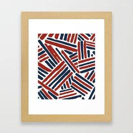 American stitch Framed Art Print