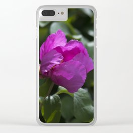 Woodland Peony Clear iPhone Case
