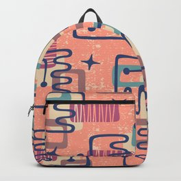 Mid Century Modern Abstract Pattern 951 Backpack