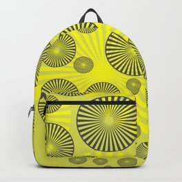 Space Spirals yellow Design Backpack