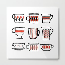 mod mugs Metal Print