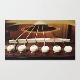 6 strings at the bridge Canvas Print