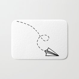 Send It // Simple Paper Airplane Drawing Bath Mat