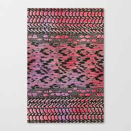 knit patchwork in warm mood Canvas Print
