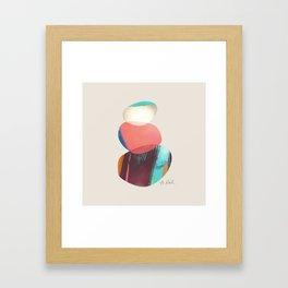 Happy Stacked Stones Framed Art Print
