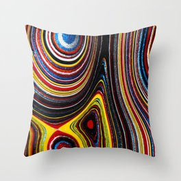 Fordite Waves Throw Pillow