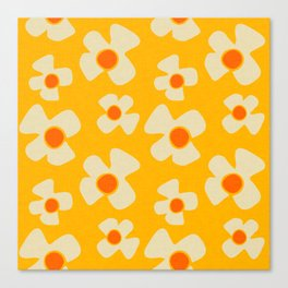 New Flower Daisy Yellow Canvas Print