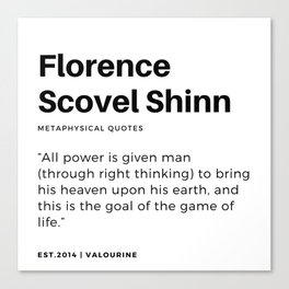 24   | Florence Scovel Shinn Quotes | 200126 Canvas Print
