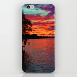 Sunset on Lake St. Clair in Belle River, Ontario, Canada iPhone Skin