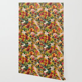 FLORAL AND BIRDS XVIII Wallpaper