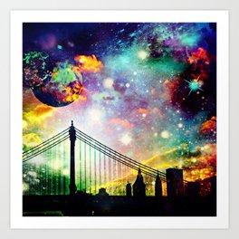 Galaxy Bridge Art Print