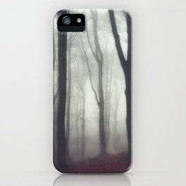 bonds - foggy forest scene iPhone Case