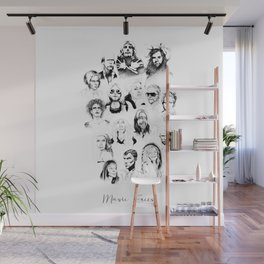 Music Faces Wall Mural