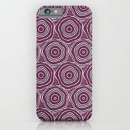 Primal Circle (Fuchsia) iPhone Case
