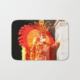 Masked Phoenix of The Annecy Carnaval Bath Mat