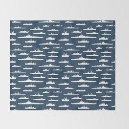 Battleship // Navy Blue Throw Blanket