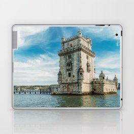 Belem Tower of Saint Vincent In Lisbon, Wall Art Print, Historic Architecture Art, Poster Decor Laptop & iPad Skin