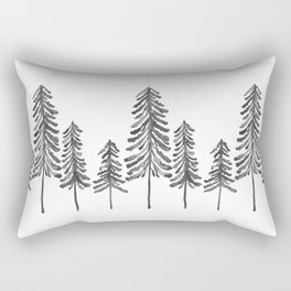 Pine Trees – Black Ink Rectangular Pillow